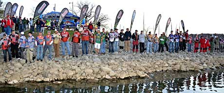 College Fishing teams pictured at the 2011 National Guard FLW College Fishing National Championship on Kentucky Lake