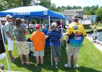 The kids line up at the 2008 TBF of Michigan Jr state championship weigh scales