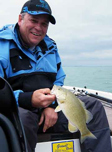 David MadWags Wagensomer on his beloved Lake St. Clair during the May 2009 MadWags Memorial Members Tournament
