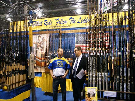 The Ultimate Sport Show Grand Rapids always provides a wide range of fishing tackle and gear like the giant Grandt Rods display featuring over 1,000 fishing rods made in the USA