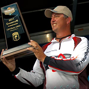 Adrian Smiley take the 2011 Bassmaster Central Open co-angler title on the Arkansas River in Muskogee Oklahoma