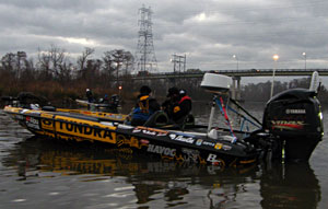Something new at the 2011 Bassmaster Classic bass tournament anglers with radar to help counter the potential for fog on the complex Delta