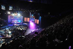 The 2010 Bassmaster Classic Arena scene