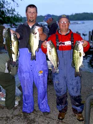 Ben Nielsen and Don Watts take first place at the June 10, 2011 Reeds Lake NBAA Division 37 tournament with 16.36 pounds