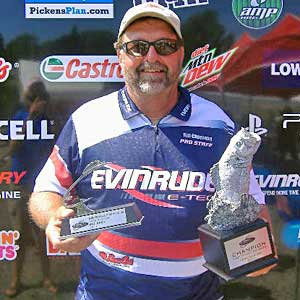 Boater Bill Chapman of Salt Rock, W. Va. won the July 23 BFL Northeast Division tournament at 1000 Islands to earn $4,205