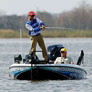 Defending B.A.S.S. Federation Nation champion Brandon Palaniuk, casting during the 2011 Bassmaster Classic, decides not to defend his title