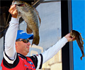 Reigning Bassmaster Classic champion Cliff Pace has the early lead in the Toyota All-Star Week's Evan Williams Bourbon Championship.