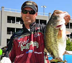 FLW Tour Lake Chickamauga champion Clifford Pirch with his final day kicker fish