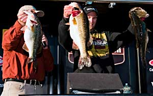 Marlon Crowder wins the co-angler title on Lake Toho while fishing with Elite Series pro Gerald Swindle