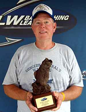 Boater Bill Evans caught two bass weighing 6 pounds 13 ounces August 21, 2010 to win the Ohio River BFL