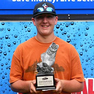 Cody Shaw of Reedsburg, Wis., was the highest-placing co-angler at the July 9 BFL Great Lakes Division event