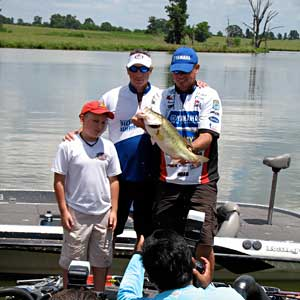 Elite angler Russ Lane fished with CWO4 John Lightsey and they caught this nice largemouth bass during the 2010 event