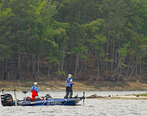 Dave Wolak, shown here fishing the 2011 Toledo Bend Elite Series event, says Oneida Lake is the Okeechobee of the north