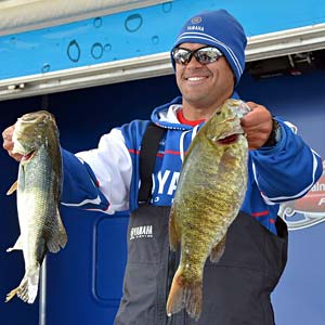 Dave Wolak wins the FLW Tour Lake Champlain bass tournament with 20 bass weighing 81 pounds