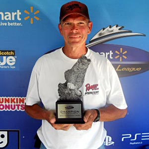 David Snow of Lanesville, Ind., won the co-angler title in the Ohio River event on Aug. 27 to take home $1,753