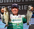 Davy Hite takes over the lead on day two of the Elite Series Alabama Charge on Pickwick Lake with bass like these