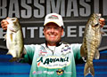 Veteran bass pro Davy Hite holds onto his day three lead at the Pickwick Lake Alabama Charge Elite Series event