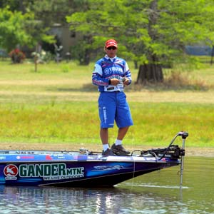Dean Rojas, fishing the 2011 Battle on the Bayou here, is happy with the 2012 Bassmaster Elite Series schedule