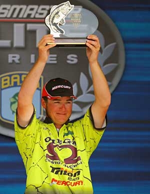 Elite angler Derik Remitz is one of the few bass pro's to win an Elite Series event as a rookie having taken his only victory in 2007 at Lake Amistad