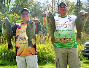 Don Watts and Jeff Denny won the 2011 Lake Drive Marine championship on Burt and Mullett Lakes with nine smallmouth bass weighing 44.69 pounds
