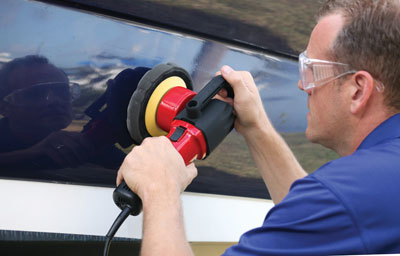 Using the Shurhold.com Dual Action Polisher makes cuts your boat and car care time in half
