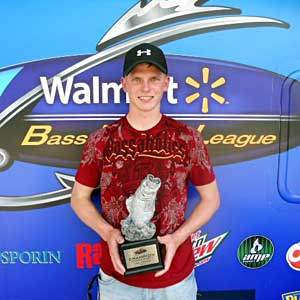 Dustin Burk of Brookville, Ind., was the highest-placing co-angler in the April 30 BFL Hoosier Division event.