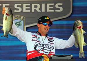 After leading day one and two, bass pro Edwin Evers settled for second place in the 2011 Pride of Georgia Elite Series tournament