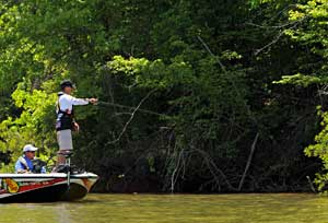 After leading the first two days at West Point Lake, Oklahoma pro Edwin Evers has slipped into third one ounce behind Kevin VanDam