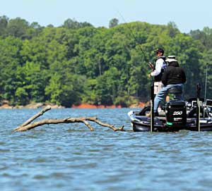 Edwin Evers maintains his lead day two by 4 ounces on West Point Lake in the Bassmaster Elite Series event