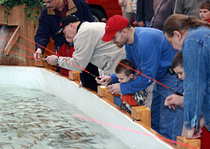 Michigans oldest and largest sport show the Ultimate Sport Show Grand Rapids features activities for everyone like family fun fishing the trout pond