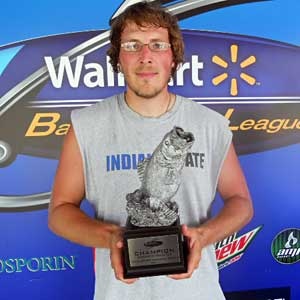 Jacob Lynch of Centerpoint, Ind., was the winning co-angler at the July 16 BFL Hoosier Division tournament, earning $2,019