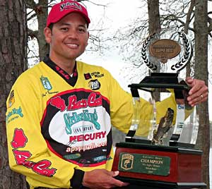 James Niggemeyer of nearby Van Texas won a B.A.S.S. tournament event in a fishoff on Toledo Bend Reservoir in 2009