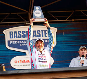 Jamie Horton led wire-to-wire on the Ouachita River to win the 2011 B.A.S.S. Federation Nation Championship in Louisiana