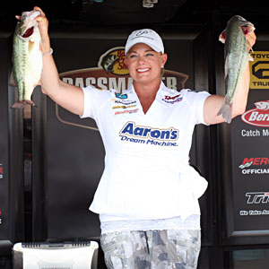 Bass pro Janet Parker is poised to become the first female Elite Angler in 2012