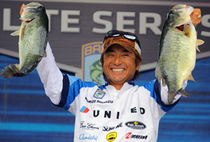 Japanese Bass pro Morizo Shimizu competes in his first Bassmaster Classic after 10 years on the circuit as the only international angler