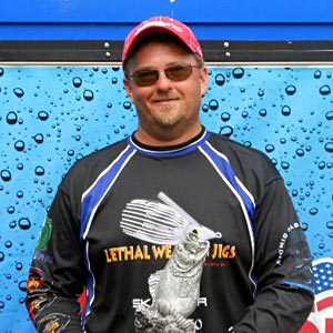 Boater Jimmy Johnson of La Crosse, Wis., won the July 9 BFL Great Lakes Division tournament on the Mississippi River to earn $4,385