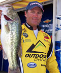 Professional bass angler Joe Thomas appears for seminars Friday only at the February 23 - 26, 2012 Outdoorama