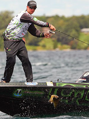 Jonathon VanDam needs a good showing on Lake St. Clair this week like his 2nd place finish last week during the St. Lawrence River Showdown to ensure a 2014 Bassmaster Classic berth. Photo credit: B.A.S.S./James Overstreet