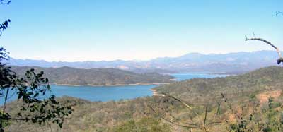 Lake Comedero is a manmade bass fishing reservoir heaven high up in Mexico's Sierra Madre mountains 100 miles NE of Mazatlan