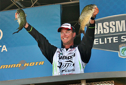 Jonathan Vandam with a pair of Lake St. Clair smallmouth bass - Credit: Jeff Nedwick