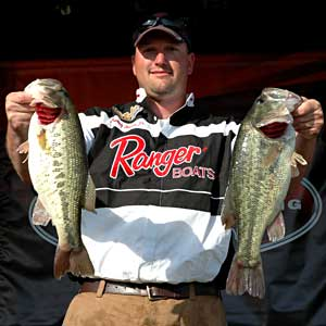Danville Virginia federation angler Kenny Beale Jr leads on day one of the TBF national championship on Lake Nickajack