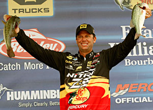 Kevin VanDam holds down 3rd place at the Bassmaster Elite Series on Wheeler Lake after day 3 having already secured the Toyota Tundra Angler of the Year title