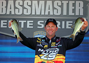Kevin VanDam maintins second place after day three of the 2011 Pride of Georgia Elite Series event