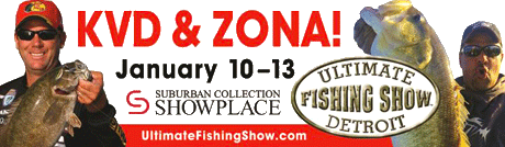 Kevin VanDam and Mark Zona headline the 2013 Ultimate Fishing Show Detroit seminar lineup