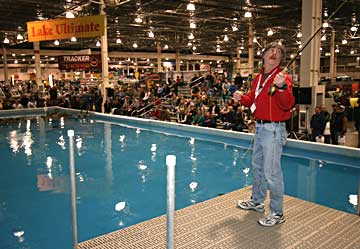Lake Ultimate is the largest indoor seminar lake featuring top live seminars at the Ultimate Fishing Show