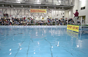 The 110,000-gallon Lake Ultimate is one of four seminar stages hosting the nation's top fishing and hunting speakers