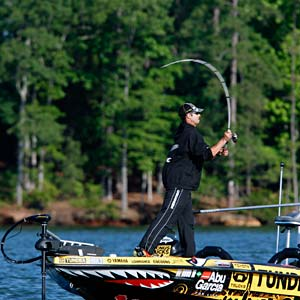 Michael Iaconelli makes a cast during the 2011 Bassmaster Elite Series season