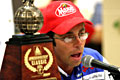 Mike Iaconelli talks to the press after his 2003 Bassmaster Classic victory on the Louisiana Delta