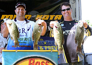 Skip Johnson and Jeff Cox took first place at the June 18, 2011 NBAA Lake St Clair Super Bass Open with over 23 pounds
