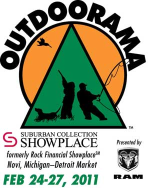 Outdoorama in Novi Michigan February 24-27 2011 at Suburban Collection Showplace brought to you by Ram Truck